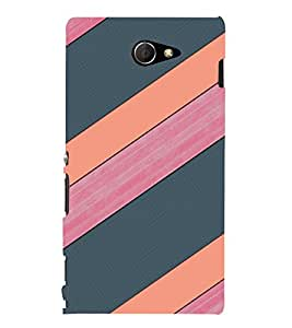 EPICCASE pink and grey Mobile Back Case Cover For Sony Xperia M2 (Designer Case)