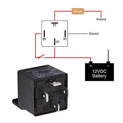 Rel/è 12v Avviamento Normale Per Avviamento Automatico Da 100a Rel/è Per Controllo On//Off Batteria
