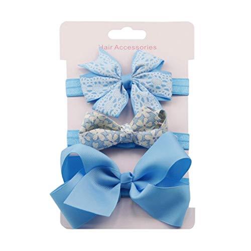 KISSFRIDAY Blau Baby Stirnbänder Haarband Stirnband Kopfband Baby Schmuck Babygeschenke Taufe