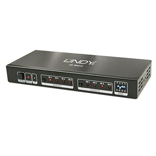 Lindy HDMI Matrix 4x 24K, 2HDMI Eingänge auf 4HDMI Ausgänge -