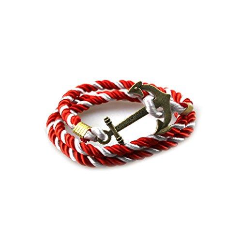 Vintage Metall Pirat Schiff Anker Armband Bunt Bemalt Schnur Armband Für Freund Edlen (Piraten Frauen Heiße)