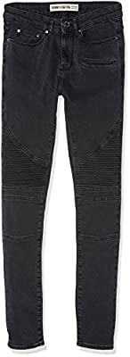 New Look Men's Washed Biker Skinny Jeans
