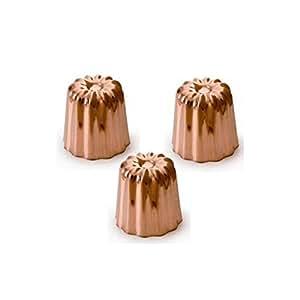 Moule à cannelés X3 en cuivre