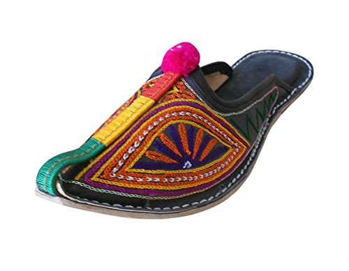 kalra Creations Femme en Cuir traditionnel indien avec broderie Chaussons Casual Chaussures Multi-color