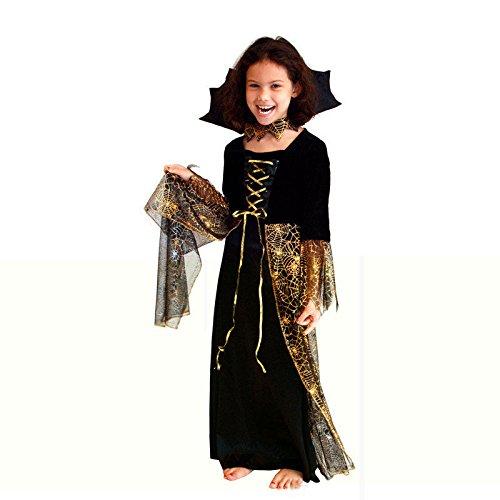 Kostüme Halloween Amerika (DLucc 2015 Ex-Modelle Kinderkleidung für Jungen und Mädchen in Europa und Amerika Halloween Cosplay Kostüme Gewohnheit Kleid verkaufen ,)