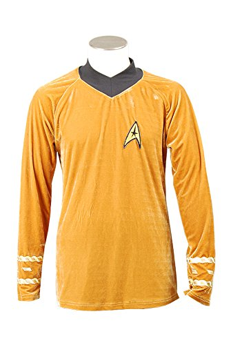 Star Trek TOS The Original Series Kirk Shirt Uniform Cosplay Kostüm Herren (Star Tos Uniform Trek)