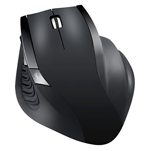 AMIR Maus Schnurlos, 2.4G Kabellose Maus, Wireless Maus DREI Justierbare DPI Level, Nano Empfänger, Optische Mäuse für Computer, Laptop, Desktop, Büro usw