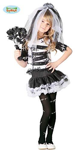 Monster Braut Kostüm für Mädchen Gr. 98 - 146, Größe:140/146