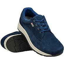 Wallin® para Hombre de terciopelo y encaje, Rocker Sole, reduce la presión, alivia pie, talón rodilla y dolor