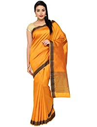 The Chennai Silks - Khathi Silk Saree Plain With Resham Jacquard Thread Border
