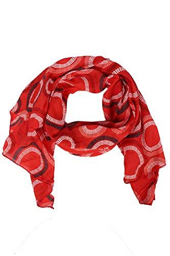 Zwillingsherz Seiden-Tuch Damen mit Muster - Made in Italy - Eleganter Sommer-schal für Frauen - Hochwertiges Seidentuch/Seidenschal - Halstuch und Chiffon-Stola Dezent Stilvoll