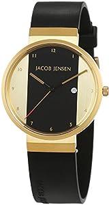 JACOB JENSEN JACOB JENSEN NEW SERIES ITEM NO. 734 - Reloj unisex, correa de goma color negro de JACOB JENSEN