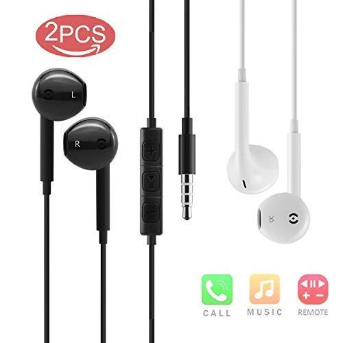 Kopfhörer, Audio Kopfhörer In-Ear Sport Kopfhörer mit Mikrofon und Fernbedienung Kopfhörer 3.5mm Klinkenbuchse für Huawei Xiaomi Sony B/w Wired Video