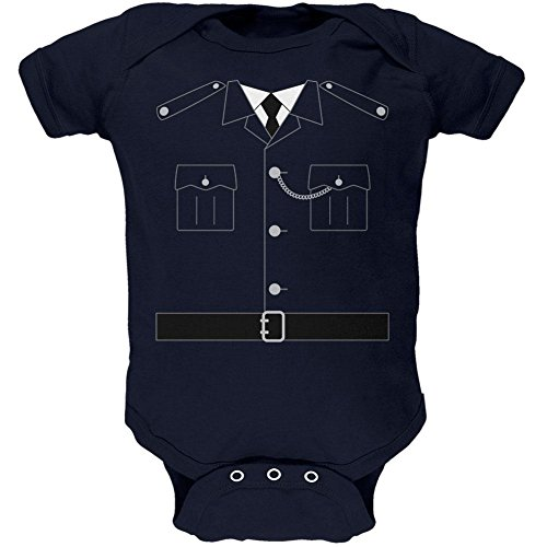 Halloween britische Bobby Kupfer Polizei Kostüm weiches Baby Einteiler Marine 0-3 (Britische Kostüme Bobby)