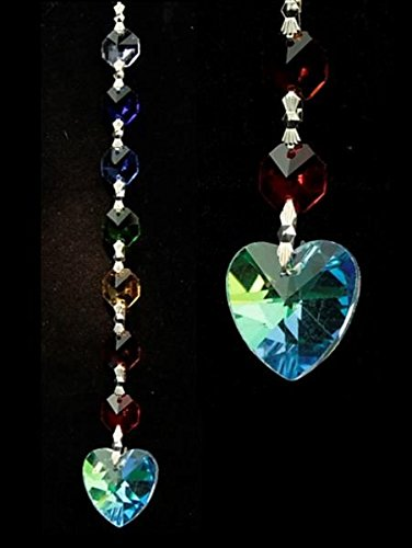 Aurora - Collana con ciondolo in cristallo a forma di cuore - Aurora Collana