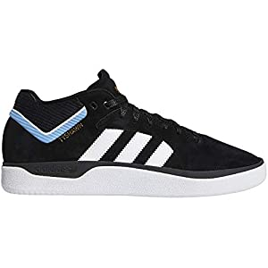 ADIDAS SKATEBOARDING Tyshawn Core Black Feather White Light Blue Skate Shoes