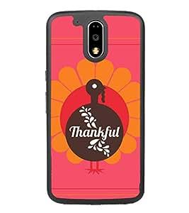 Fiobs Designer Back Case Cover for Motorola Moto G4 :: Moto G (4th Gen) (Be Thankful Heart Dil Thank You God Believe Mobile Cover)