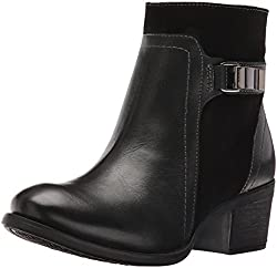 Hush Puppies Women s Fondly Nellie Western Boot Black Leather/Suede 9. 5 B(M) US