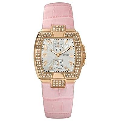 Guess W15056L1 - Reloj analógico de cuarzo para mujer con correa de piel, color rosa