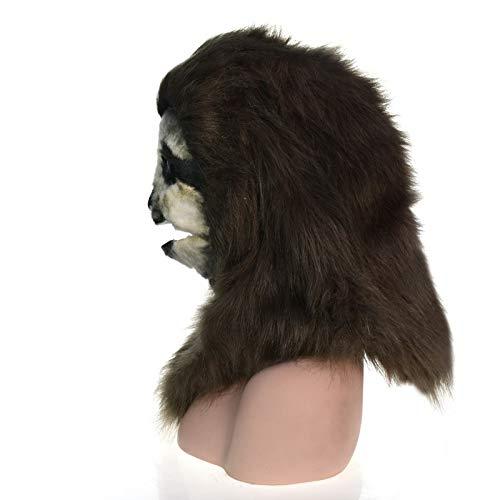XIANGBAO-Maskenparty Fabrik Direktverkauf Handgefertigte Maßgeschneiderte Parade Bewegliche Mundmaske Sloth Simulation Tiermaske (Color : Brown, Size : 25 * 25)