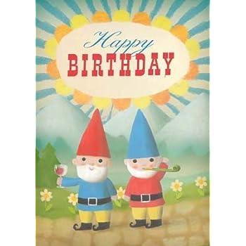 Birthday Gnomes Greeting Card By Stephen Mackey Amazon