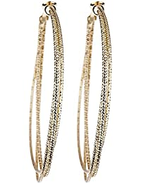 Clip On Hoop Earrings - Gold Plated Hoops - Delia by Bello London