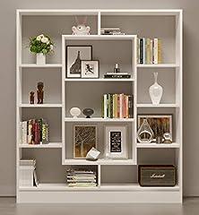 Idea Regalo - VENUS Libreria - Scaffale per libri - Scaffale per ufficio / soggiorno dal design moderno (Bianco)