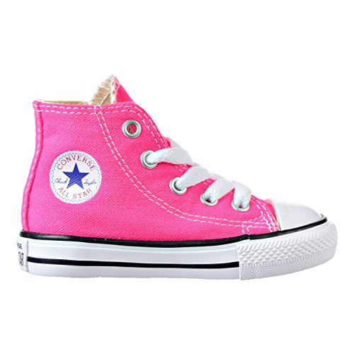Converse Toddler All Star Hi Infant Pink Pow Size 10 (Converse Girls High Tops)
