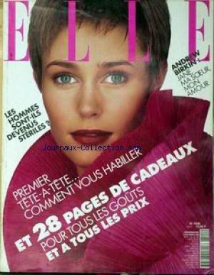 ELLE [No 2513] du 28/02/1994 - ANDREW BIRKIN - JANE MA SOEUR MON AMOUR.... LES HOMMES SONT-ILS DE VENUS STERILES ? - POUR TOUS LES GOUTS ET A TOUS LES PRIX....