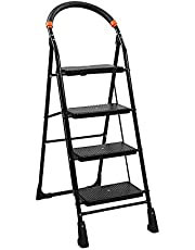 Truphe Anti Skid Foldable Ladder 4 Step Ladder for Home Use Foldable Home Ladder 4 Step Ladder for Office Folding Ladder 4 Step Ladders