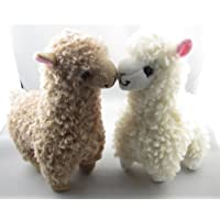 2pcs Cute Alpaca Plush Toy Camel Cream Llama Stuffed Animal Kids Doll 23cm Height