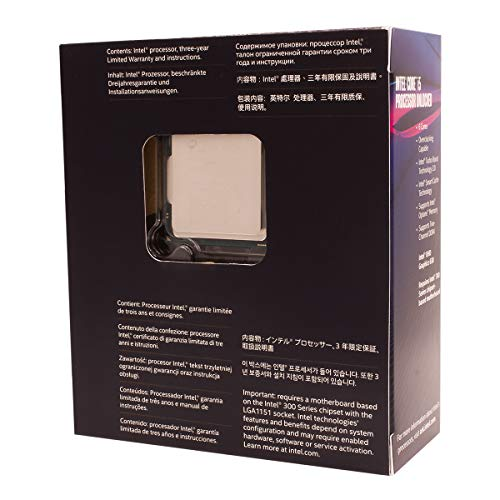 Intel Core i5-8600K 3,60GHz Boxed CPU