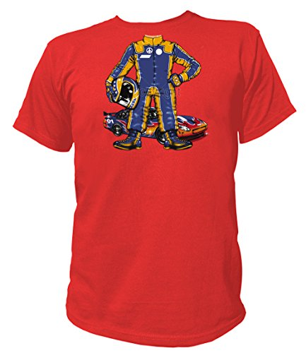 Artdiktat Herren T-Shirt - RACE CAR DRIVER Größe XXXL, rot (Race Car Driver Kostüm Kind)