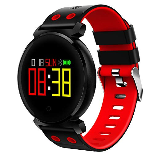 JiaMeng Smartwatches - K2 Schermo a colori Frequenza cardiaca Sport pressione IP68 Smartwatch per iOS Android Smart watch rosso