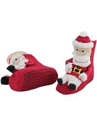 1 Paar Homesocks Antirutsch ABS Socken Hüttensocken ' Elch' und 'Weihnachten'