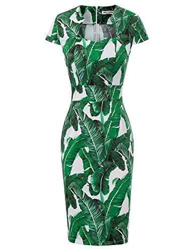 GRACE KARIN Femme Robe de Hanche à Manches Courtes en Col Carré XL CL7597-30