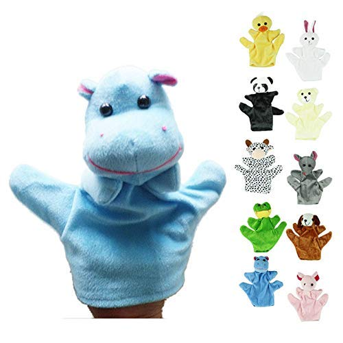 Elevin(TM) _ Toys & Joker Child Zoo Farm Animal Hand Glove Puppet Finger Sack Plush Toy 120ML Blue