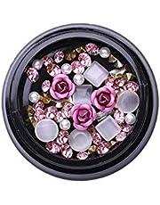 LishMark Swarovski 3D Rhinestones Set Diverse DIY Gems New Charming Mix Nail Art Decoration Rose Jewelry Gel Glitter Nail Art Decoration (Style #04)
