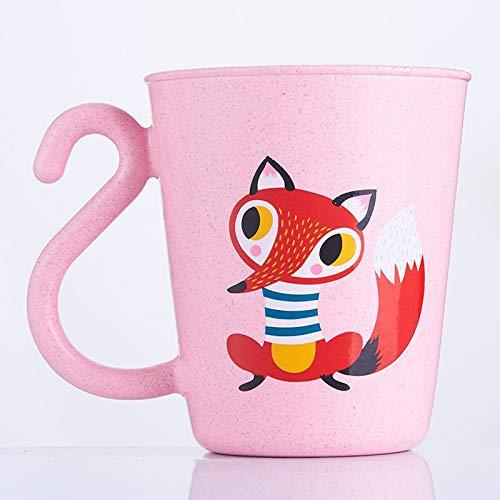 SNOLEK 350 ml niños dibujos animados cepillo de dientes für EIN lecksack für niños aprender Bier botellas von alimentación für die Entenamiento tazas Pink New