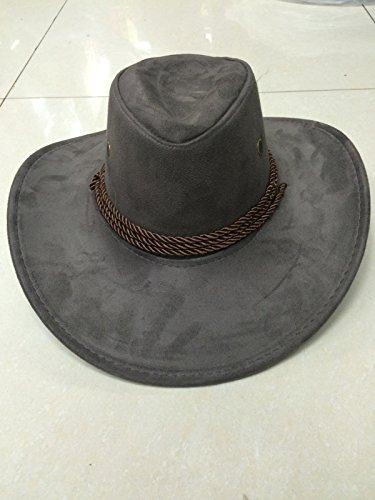 Cowboy Hut Panama Herren Stroh Grau Wildleder (Cowboy Wildleder Hut)
