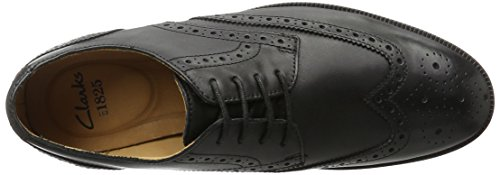 Clarks Broyd Limit, Oxfords Homme Noir (Black Leather)