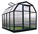 Rion Gewächshaus Gartenhaus Kunststoff SMART 34 + Fundament // 263x204x198 cm (LxBxH); Treibhaus & Tomatenhaus zur Aufzucht