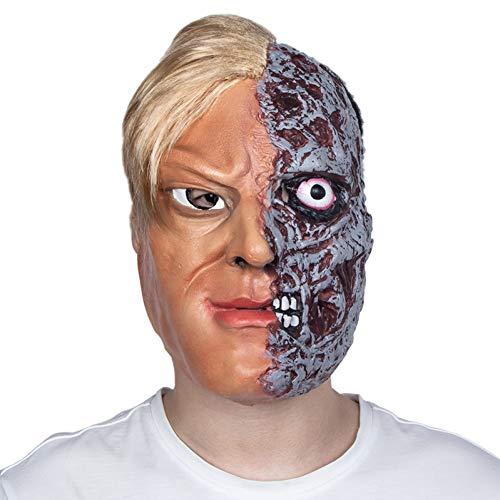 WZMHBMJ Burnt Man Halloween Kostüm Burnt Face Mask Mit Haaren Furchterregende Gesichter Zombie Burnt Flesh Latex Mask (Burnt Zombie Kostüm)