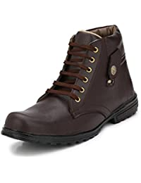 Royal Star Men's Black/Tan/Brown/White/Beige Synthetic Leather Boots Shoes/Leather Boots/Boot Shoes/Shoes Boots...
