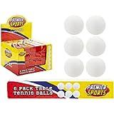 Box Of 6 White Ping Pong, Table Tennis Balls.