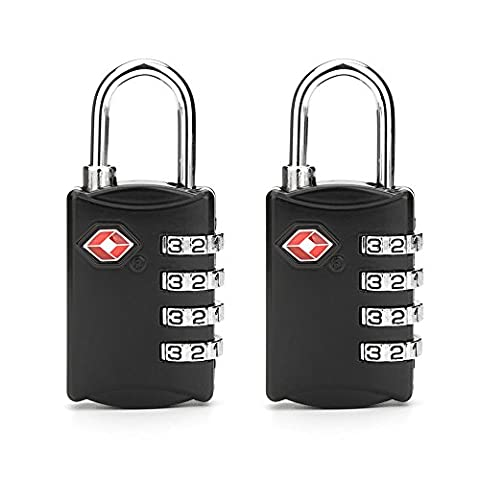 2 Luggage Lock FOXAS TSA Security Travel Luggage Lock for Suitcase and Backpack 4-Dial Combination Code Lock Set of 2