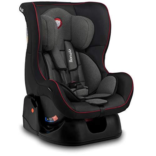 Lionelo Liam Plus Kindersitz Autositz Gruppe 0+ 1, 0-18 kg, 5-Punkt Sicherheitsgurte, nutzbar ab Geburt, ECE R44/04 (Schwarz)