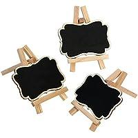 SUPVOX Mini Chalkboards Schilder Hängen Tafel Tischkarten mit Staffelei für Message Board Zeichen Lebensmittel Etiketten Hochzeit Halter Decor 3 STÜCKE