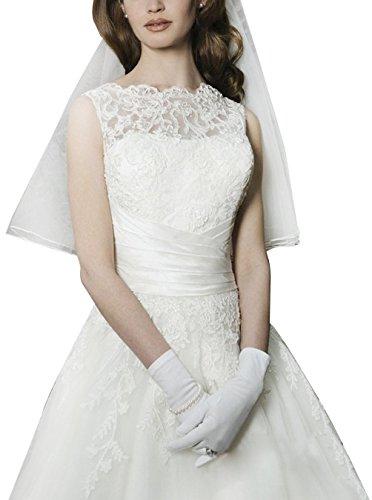 Find Dress Elégant Robe de Mariée Dentelle Blanc Femme Sexy Robe pour Mariage Longue Grande Taille sans Manche Robe de Soirée Princesse Cérémonie Fille Sirène en Organza Ivoire