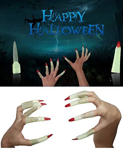 (Halloween Gefälschte Nägel, Leuchtende Finger, 5 Paar / 10 stück Thumb Tip, Kinder Erstaunliche Glow Spielzeug, Scary Tricky Geschenk, Party Requisiten, Happy Halloween Cosplay Partei Liefert)